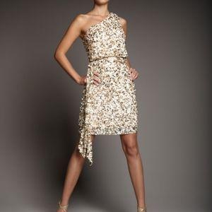 Aidan Mattox Gold Sequin Beaded Dress
